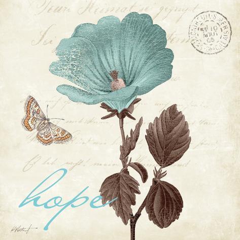 Touch of Blue III, Hope Konstprint