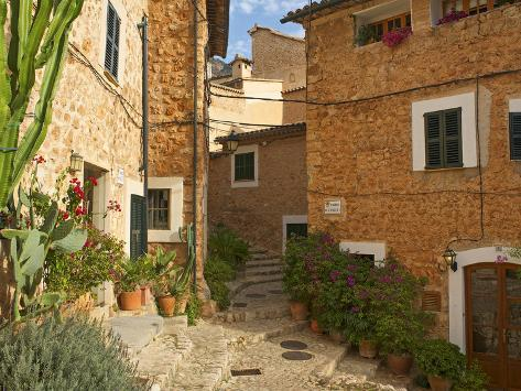 Alley in Fornalutx, Majorca, Balearics, Spain Photographic Print