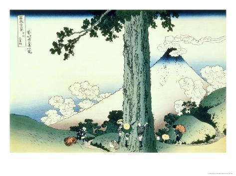 36 Views of Mount Fuji, no. 16: Mishima Pass in Kai Province Giclee Print