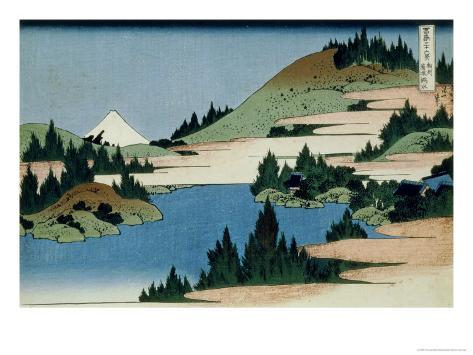 36 Views of Mount Fuji, no. 34: The Lake of Hakone in the Sagami Province Giclee Print