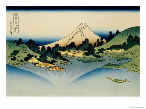 36 Views of Mount Fuji, no. 35: Reflected in Lake Kawaguchi, Seen from the Misaka Pass, Kai Provinc Giclee Print