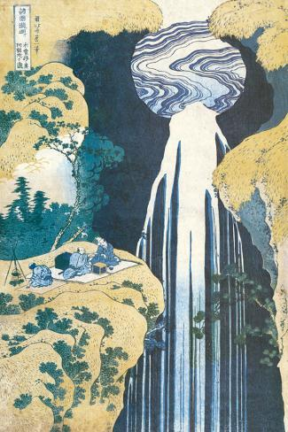 Cascade of Amida, Province of Kiso, c.1830 Stretched Canvas Print