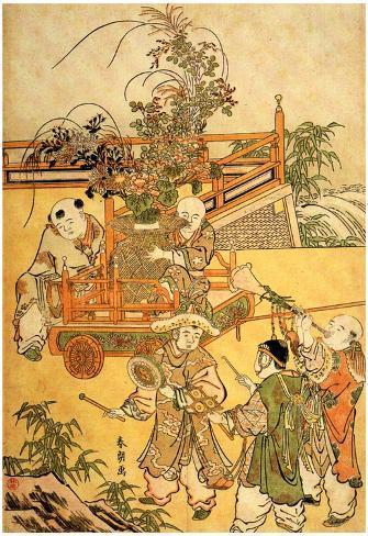 Katsushika Hokusai Chinese Children Art Poster Print Poster