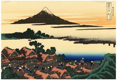 Katsushika Hokusai Dawn at Isawa in the Kai Province Art Poster Print Poster