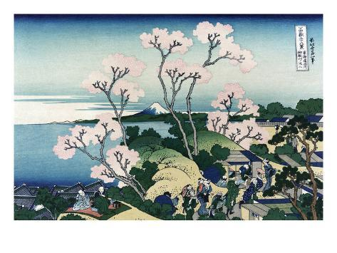 Goten-Yama-Hill. Shinagawa on the Tokaido Road Art Print