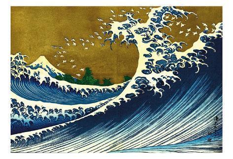 Great Wave (from 100 views of Mt. Fuji) Konstprint