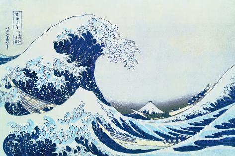 Great Wave Off Kanagawa Impressão artística
