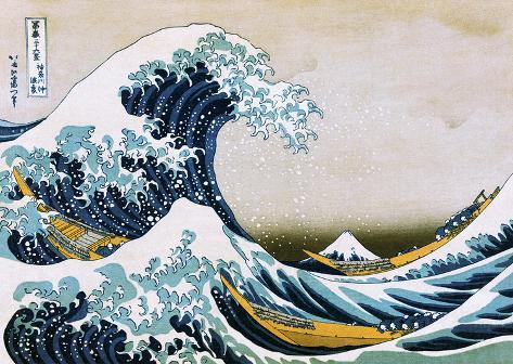 Hokusai The Great Wave Póster de gran tamaño