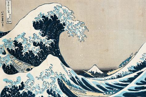 Kanagawan suuri aalto, sarjasta 36 Fujivuoren näkymää, Fugaku Sanjuokkei Giclée-vedos