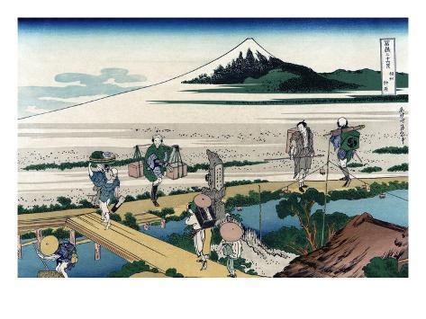 Nakahara in Sagami Province Art Print