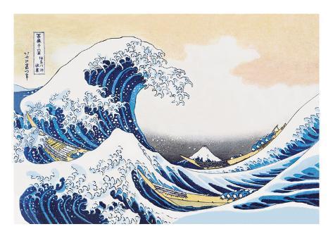 The Great Wave Off Kanagawa Impressão artística