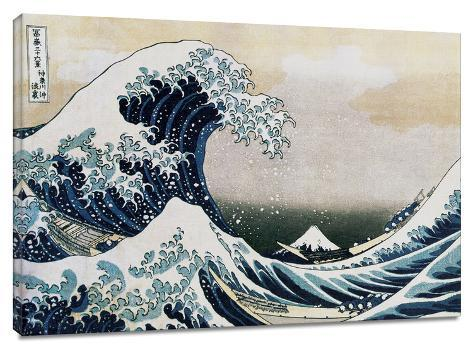 The Great Wave Stretched Canvas Print