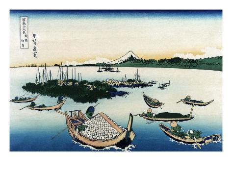 Tsukada Island in Musashi Province Art Print