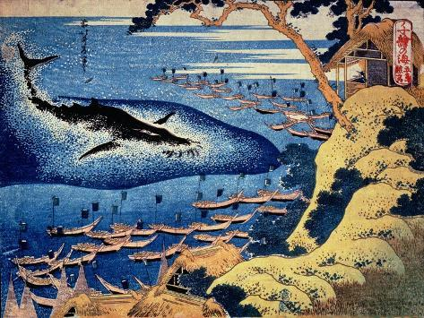 Whaling Off the Goto Island, from the Series 'Oceans of Wisdom' Giclee Print