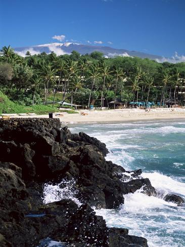 Kauna Oa Beach, at Mauna Kea Beach Hotel, Island of Hawaii, United States of America Photographic Print