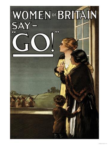 Women of Britain Say Go! Art Print