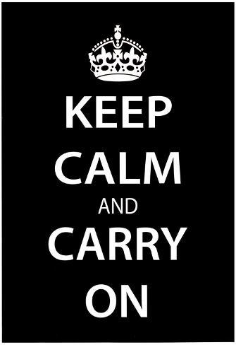 オールポスターズの keep calm and carry on 黒 高品質プリント