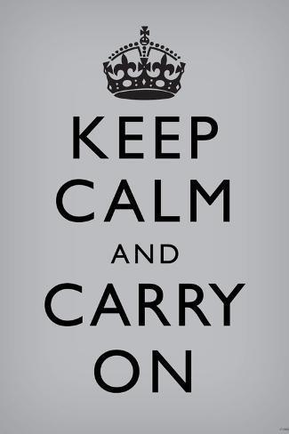 オールポスターズの keep calm and carry on grey 写真