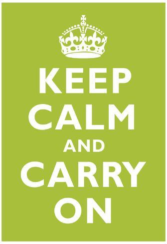 Keep Calm and Carry On Kiwi Art Print Poster Poster