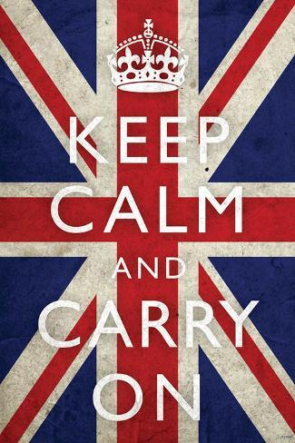 オールポスターズの keep calm and carry on union jack flag 高品質