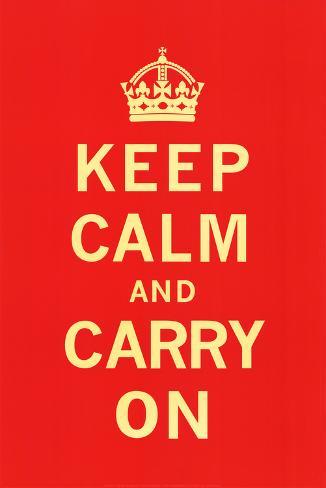 Keep Calm and Carry On Konstprint