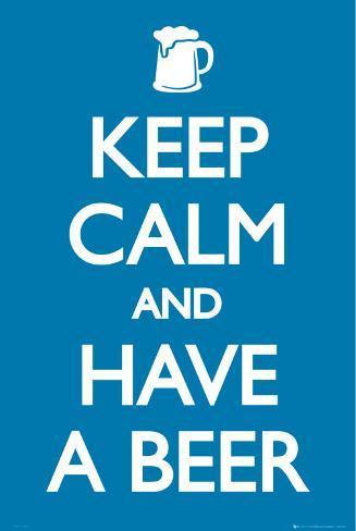オールポスターズの keep calm and have a beer ポスター