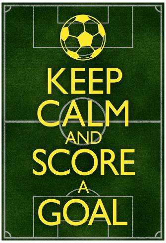 オールポスターズの keep calm and score a goal soccer poster アート