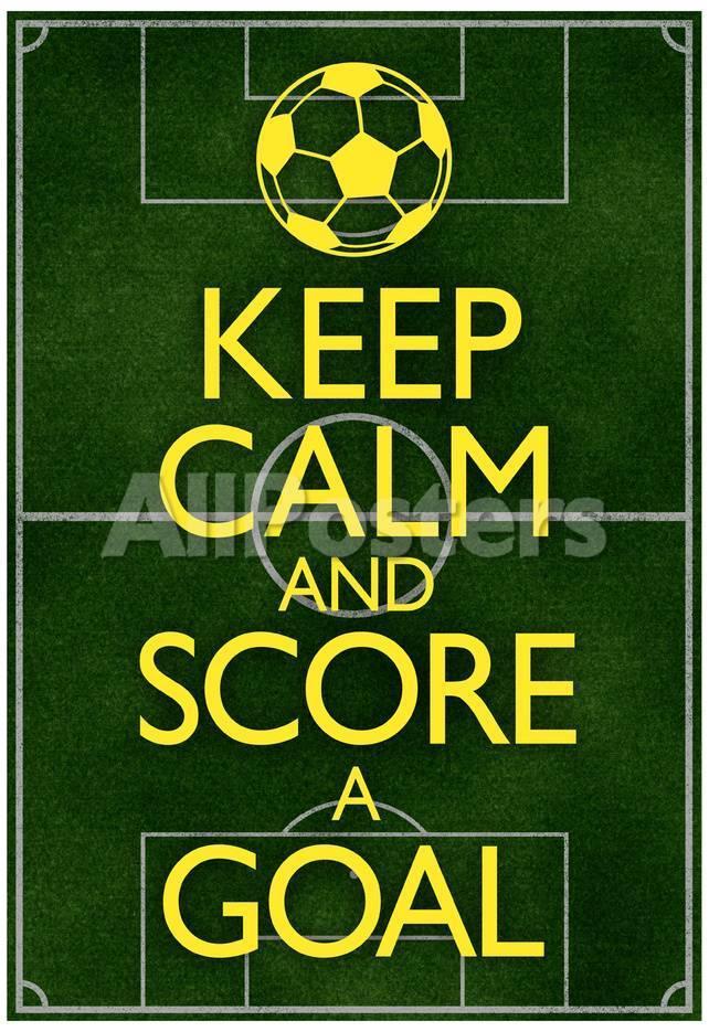 オールポスターズの keep calm and score a goal soccer poster アート