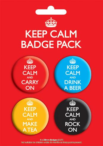 Keep Calm Badge Pack Badge