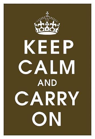 Keep Calm (chocolate) Art Print