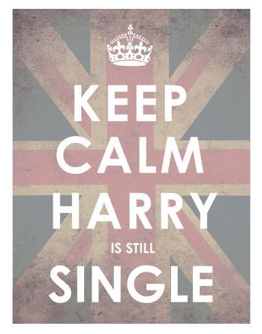 Keep Calm, Harry is Still Single Konstprint