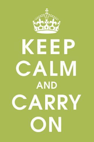 Keep Calm (kiwi) Stretched Canvas Print