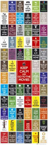 Keep Calm- Movies Dörrposter