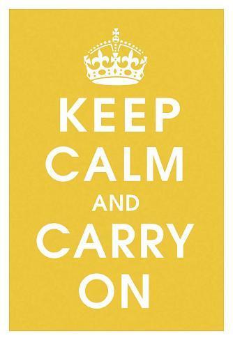 Keep Calm (mustard) Art Print