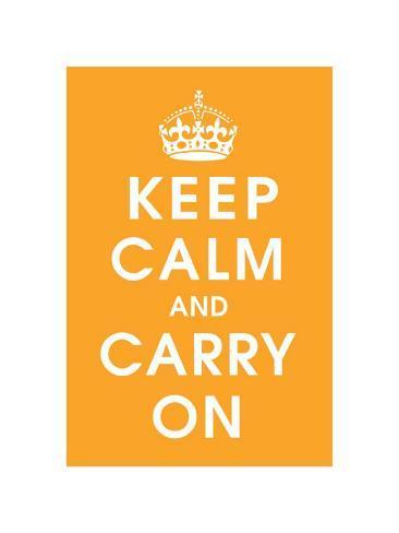 Keep Calm (orange) Giclee Print
