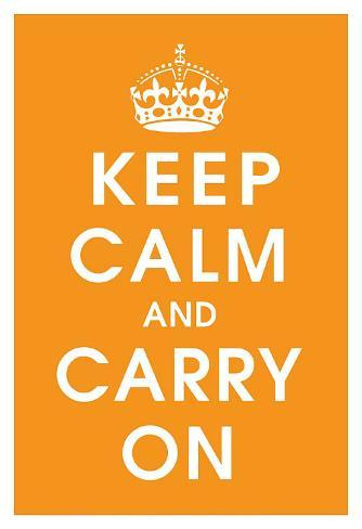 Keep Calm (orange) Art Print