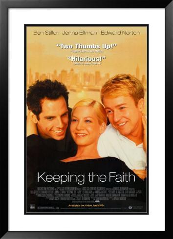 Keeping the Faith Framed Poster