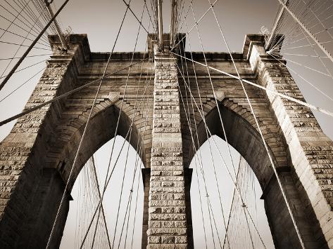 The Brooklyn Bridge, a National Landmark Photographic Print