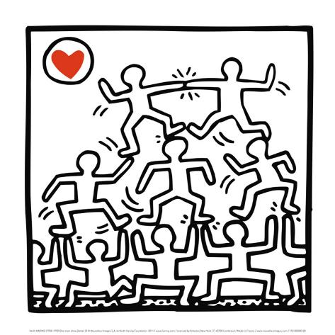 One Man Show (details) Pósters por Keith Haring en AllPosters.es