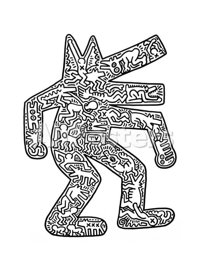 Perro, 1985 Lámina giclée por Keith Haring en AllPosters.es
