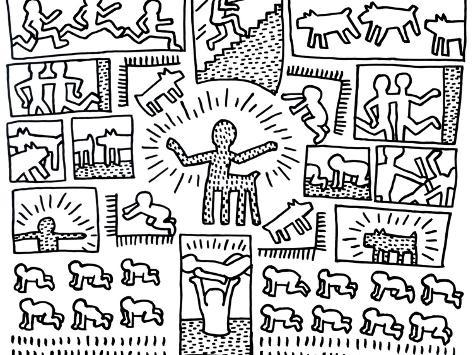The blueprint drawings 1990 giclee print by keith haring at the blueprint drawings 1990 malvernweather Image collections
