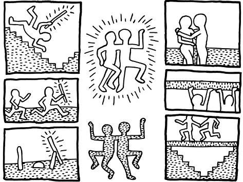 The blueprint drawings 1990 lmina gicle por keith haring en the blueprint drawings 1990 lmina gicle malvernweather Image collections