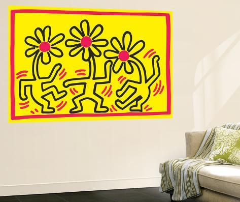 Untitled Pop Art Wall Mural by Keith Haring - at AllPosters.com.au