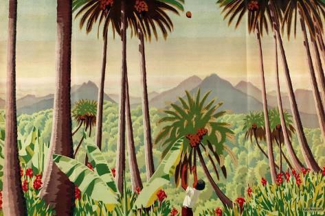 Fiji - Copra, Pineapples, Bananas, Sugar, from the Series 'Some Empire Islands', 1929 Giclee Print