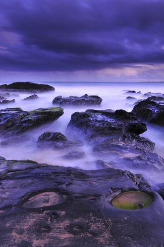 Sunset on Beach Near Melbourne, Australia Photographic Print