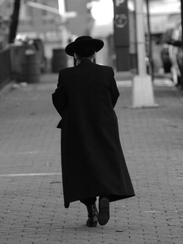 Lower East Side, A Chasid Walking, New York City Photographic Print