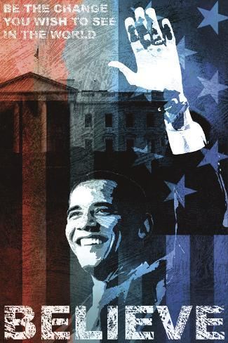 Obama: Believe Stretched Canvas Print