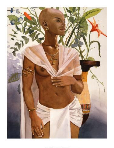 Egyptian Flower Art Print