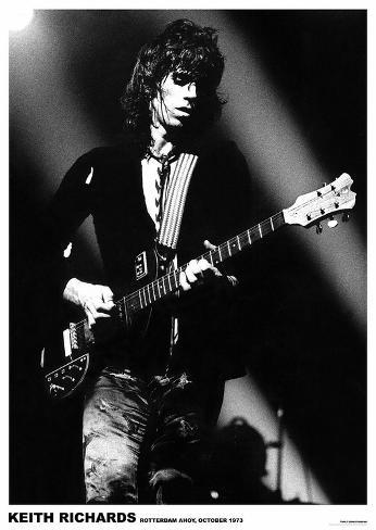 Keith Richards Rotterdam 1973 Pôster