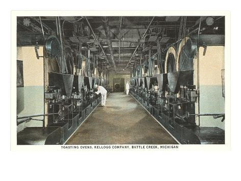 Kellogg Toasting Ovens, Battle Creek, Michigan Art Print